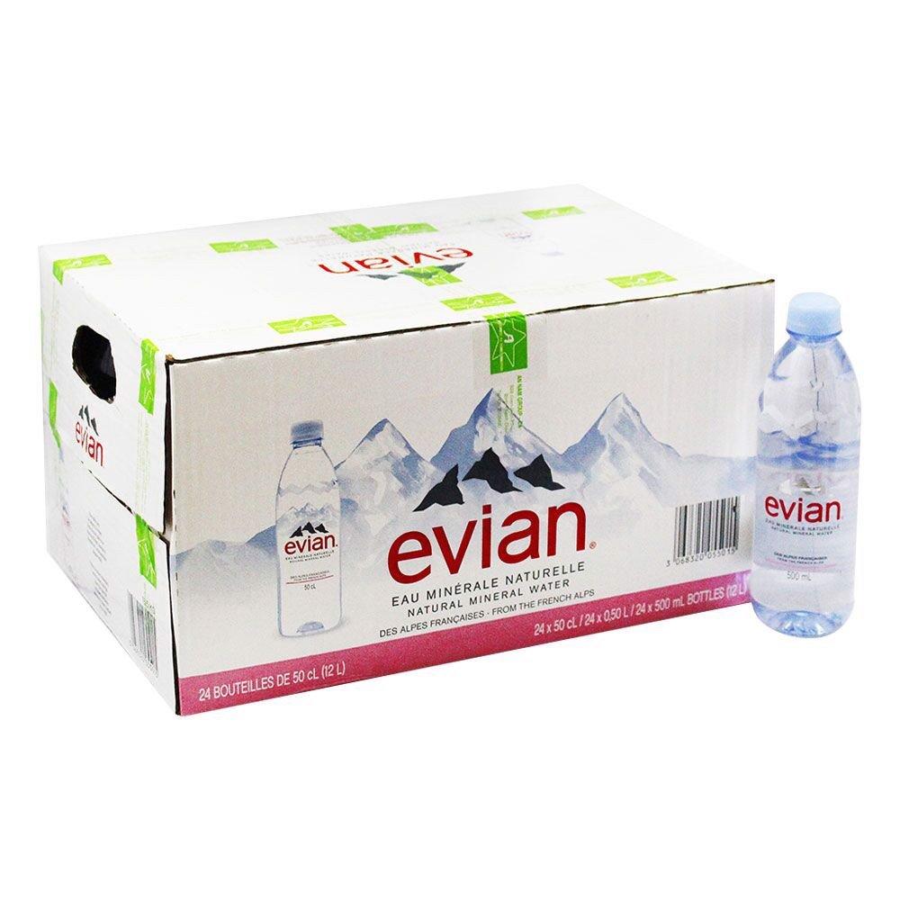 thùng nước Evian 500ml